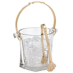 Capitol Bucket with Gold Handle and Tong
