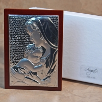 Madonna and Child Silver-Rectangular