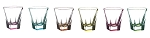 Fusion Crystal Multicolor Shot Glass Set
