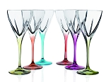 Fusion Crystal Multicolor Wine Set