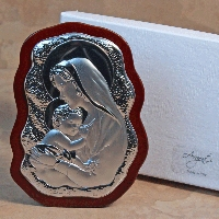 Madonna and Child Silver-Scalloped