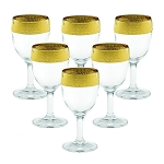 Liquor Stems Melania Collection Gold