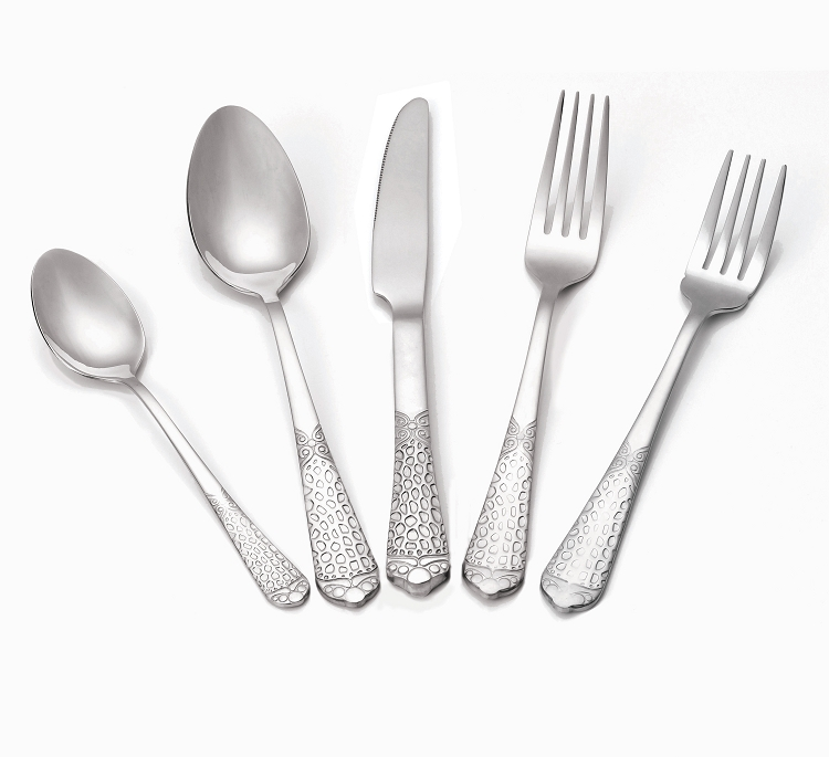 20 Piece 1810 Flatware Set Service For 4 Mirror Finish
