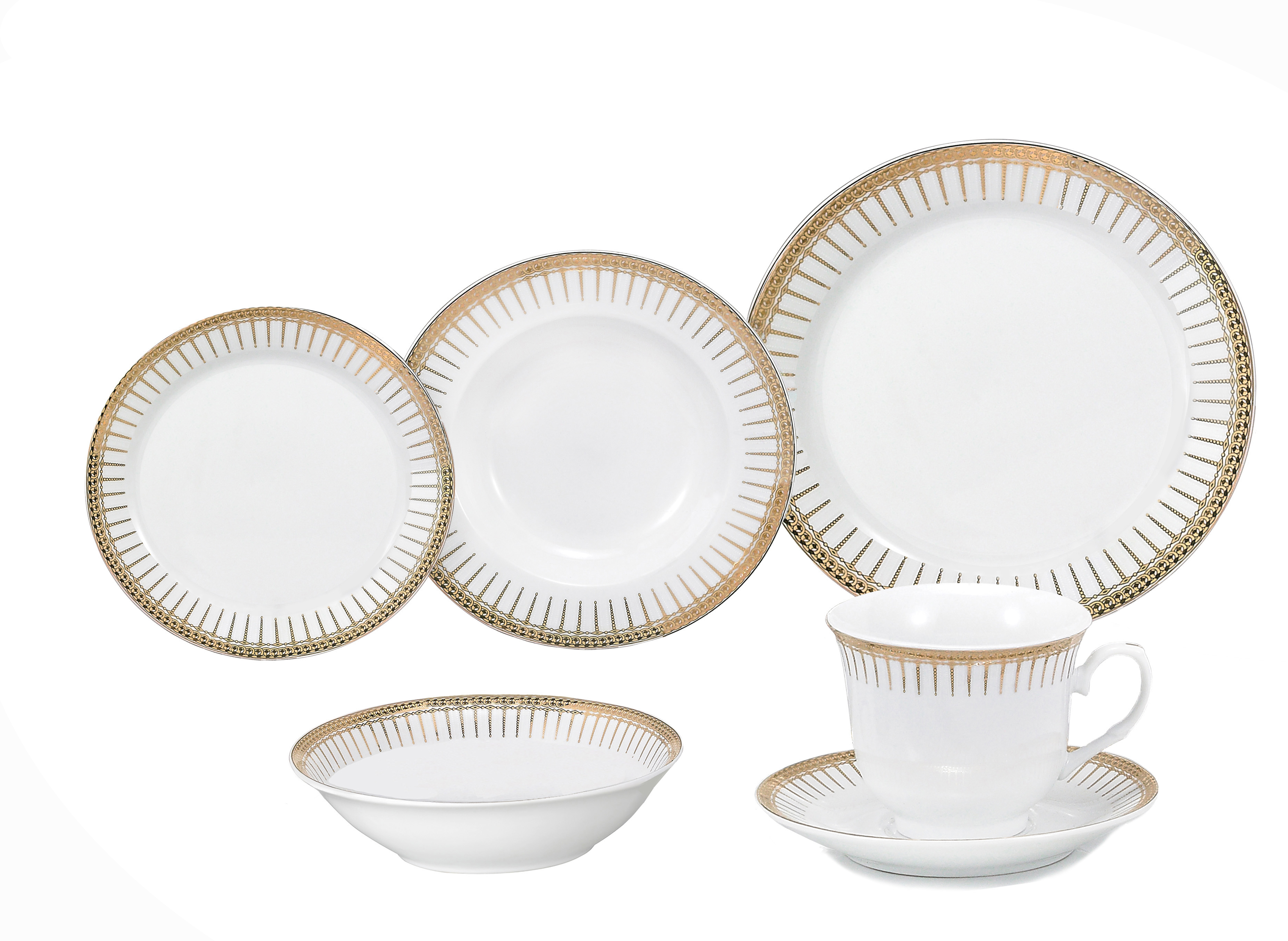 porcelain dinnerware set, 24 piece service for 4lorren home