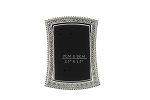Pewter Bling Frame Rectangular Flare