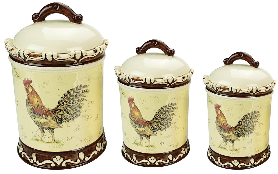 100 rooster canisters kitchen products rooster kitchen