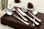 20 Piece 18/10 Flatware set, Service for Mirror and Satin finish-Amanda