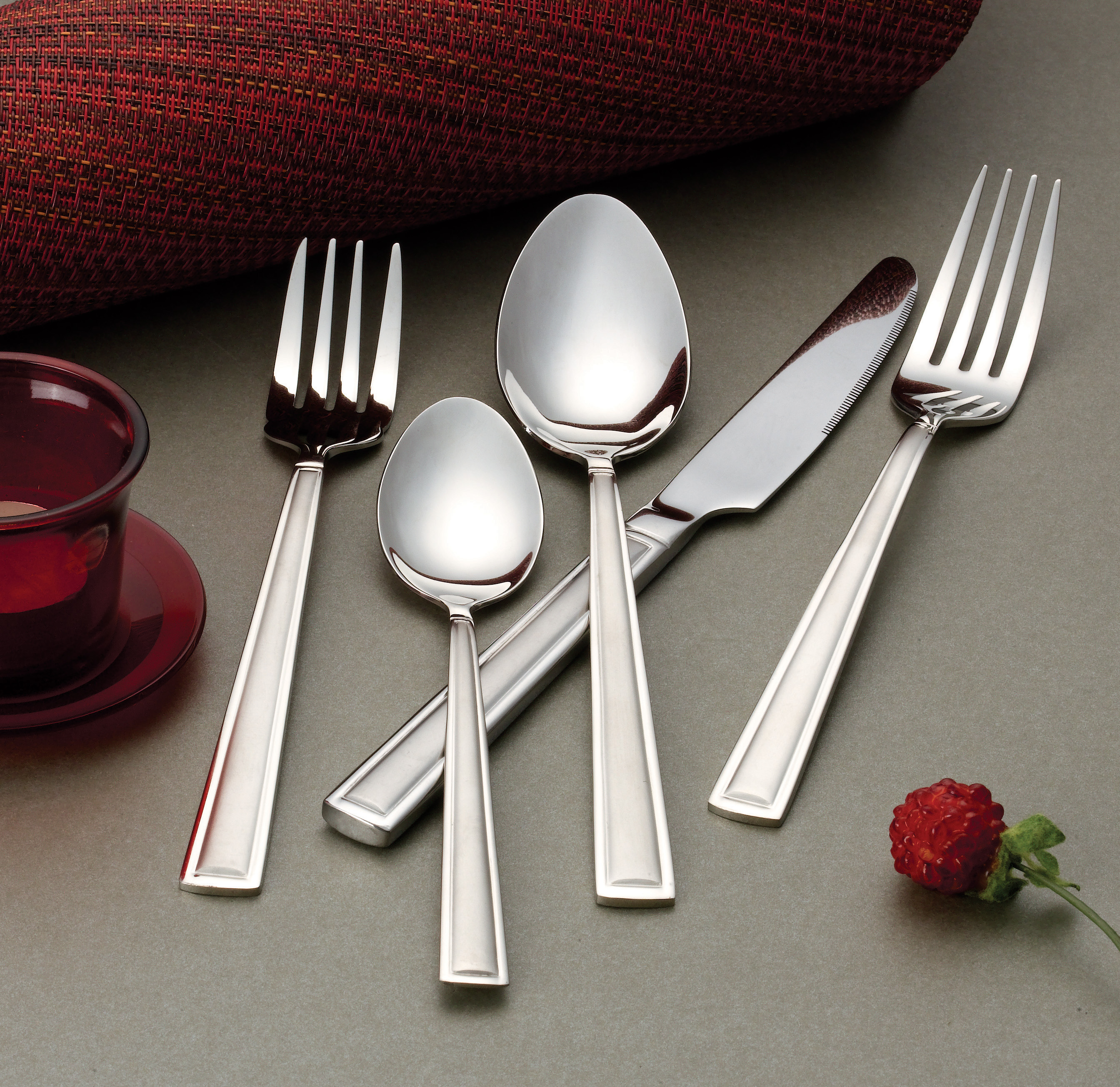 20 Piece 18 10 Flatware Set Service For Mirror And