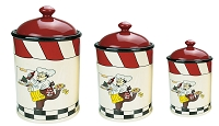 3 Piece Canister Set Chef Collection