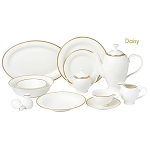 57 Piece Dinnerware Set-Bone China Service for 8 People-Daisy
