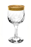Set of 4 Red Wine Goblets from the Venezia Collection by Lorren Home Trends
