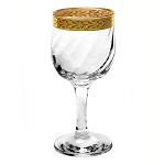 Set of 4 White Wine Goblets from the Venezia Collection by Lorren Home Trends