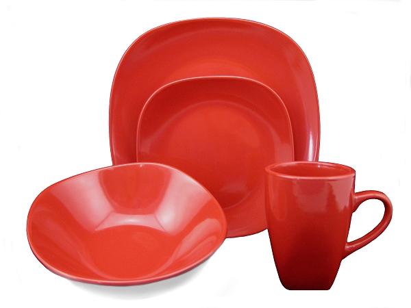 Quick View  sc 1 st  Lorenzo Import & 16 Piece Square Stonware Dinnerware Set Red