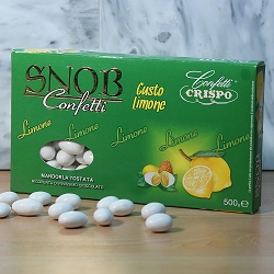 Coated White Limone Flavored Almond
