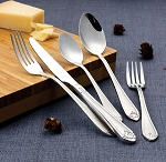 84 Piece Flatware set service for 12 Mirror finish Stainless Steel and Satin-Lorena