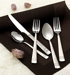 84 Piece Flatware set service for 12 Mirror finish Stainless Steel and Satin-Madison
