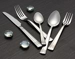 84 Piece Flatware set service for 12 Mirror finish Stainless Steel-Madison
