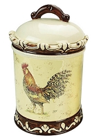 Cookie Jar and Lid Morning Rooster Collection