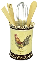 Utensil Holder w/Utensil Morning Rooster Collection