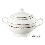 La Luna Collection Bone China Souptureen with Lid, Serafina Pattern by Lorren Home Trends