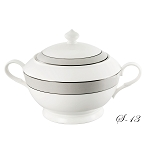 La Luna Collection Bone China Souptureen with Lid, Donatella Pattern by Lorren Home Trends