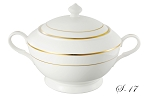 La Luna Collection Bone China Souptureen and Lid, Gold design by Lorren Home Trends