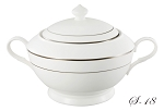 La Luna Collection Bone China Souptureen and Lid, Silver design by Lorren Home Trends