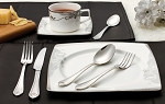 20 Piece 18/10 Flatware set, Service for Mirror and Brushed finish-Lorena