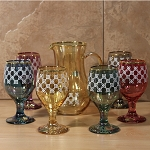 Pitcher and Goblet Set-7 Piece Multicolor-Fantasy