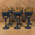 Blue Goblets Set of 6