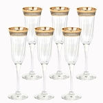 Flute Set of 6 Melania Collection Smoke
