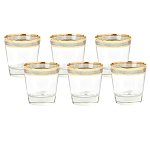 Double Old Fashion Set of 6 Melania Collection Smoke