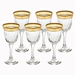 White Wine Set of 6 Melania Collection Amber