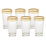 High Ball Set of 6 Melania Collection Amber