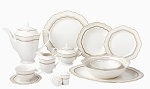 Lorren Home Trends 57 Piece Bone China Charlotte Service for 8