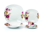 Porcelain 20 Piece Square Dinnerware Set Service for 4