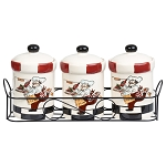 Chef Ceramic 3 Piece Jar Set in Stand