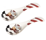 Chef Ceramic Spoon Rest-Set of 2