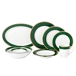 Lorren Home 50 Piece New Bone China Dinnerware Set Service for 8-Pine