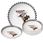 5 Piece Porcelain Pasta Set Chef Design