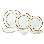 28 Piece Dinnerware Set-New Bone China Service for 4 People-Sonia
