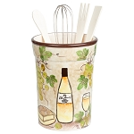 White Grape Ceramic Utensil Holder