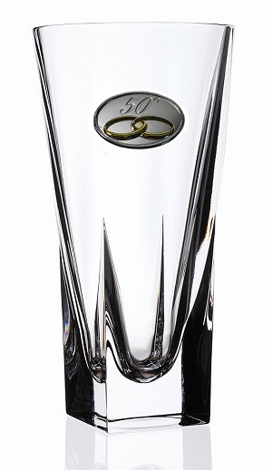 RCR Fusion Crystal Vase Small with 50th Anniversary