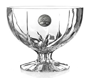 RCR Trix Crystal Bowl with Pedastal for 25th Anniversary