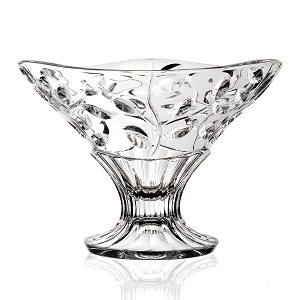 Crystal Pedastal Bowl Laura 9""