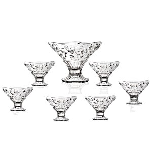 Crystal 7 Piece Bowl Set Laura