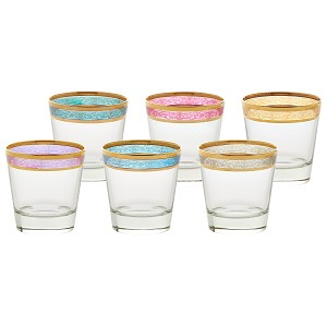 Double Old Fashion Set of 6 Melania Collection Multicolor