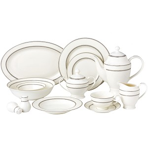 57 Piece Dinnerware Set-New Bone China Service for 8 People-Arianna