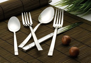 20 Piece 18/10 Flatware set, Service for 4 mirror finish