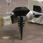 Black crystal bottle stopper